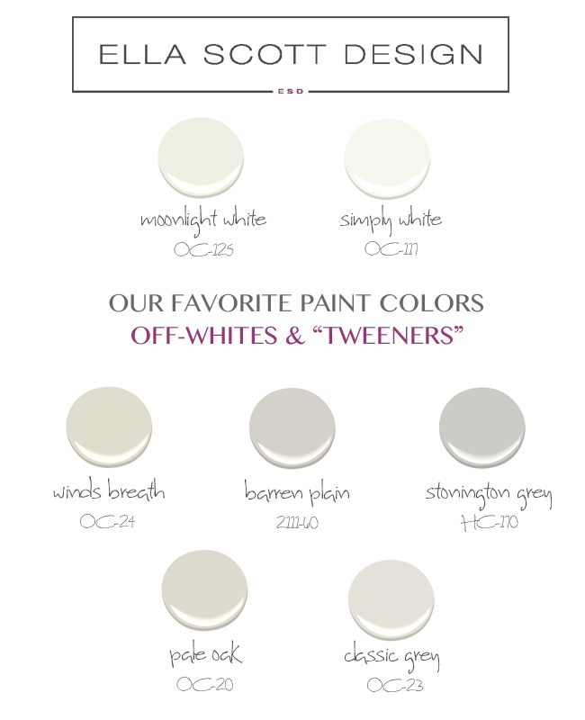 Whites Amp Tweeners My Go To Paint Guide Ella Scott Design