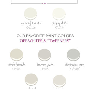 """Whites & Tweeners:  My """"go-to"""" Paint Guide"""